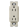 Lutron 20-Amp Limestone Decorator Single Electrical Outlet