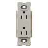 Lutron 20-Amp Stone Decorator Single Electrical Outlet