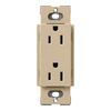 Lutron 20-Amp Desert Stone Decorator Single Electrical Outlet