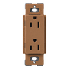 Lutron 20-Amp Terracotta Decorator Single Electrical Outlet