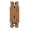 Lutron 125-Volt 20-Amp Claro Satin Color Terracotta Decorator Single Electrical Outlet