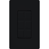 Lutron Claro 1-Gang Black Decorator Rocker Plastic Wall Plate