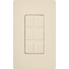 Lutron Claro 1-Gang Light Almond Decorator Rocker Plastic Wall Plate