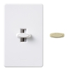 Lutron Glyder 5-Amp White/Ivory Preset Dimmer