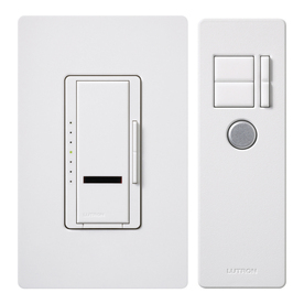 Lutron Maestro 1-Switch 600-Watt Single Pole White Indoor Remote Control Dimmer
