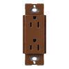 Lutron 15-Amp Claro Sienna Decorator Single Electrical Outlet