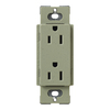 Lutron 15-Amp Claro Greenbriar Decorator Single Electrical Outlet