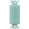 Lutron Claro Satin 6-Gang Sea Glass Decorator Single Receptacle Plastic Wall Plate