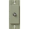 Lutron Claro Satin Color 1-Gang Greenbriar Coaxial Plastic Wall Plate