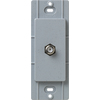 Lutron Claro Satin Color 1-Gang Bluestone Coaxial Plastic Wall Plate