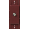 Lutron Claro Satin Color 1-Gang Merlot Coaxial Plastic Wall Plate