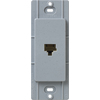 Lutron Claro Satin Color 1-Gang Bluestone Phone Plastic Wall Plate