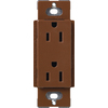 Lutron 20-Amp Claro Sienna Decorator Single Electrical Outlet