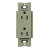 Lutron 20-Amp Claro Greenbriar Decorator Single Electrical Outlet