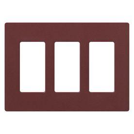 Lutron 3-Gang Merlot Decorator Rocker Plastic Wall Plate