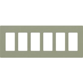 Lutron 6-Gang Greenbriar Decorator Rocker Plastic Wall Plate