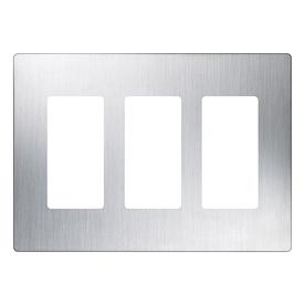 Lutron Claro 3-Gang Stainless Steel Decorator Rocker Metal Wall Plate