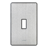 Lutron Fassada 1-Gang Stainless Steel Standard Toggle Metal Wall Plate