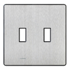 Lutron Fassada 2-Gang Stainless Steel Standard Toggle Metal Wall Plate