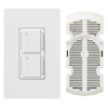 Lutron Maestro 1-Switch 300-Watt Single Pole White Indoor Touch Combination Dimmer and Fan Control