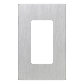 Lutron 1-Gang Stainless Steel Decorator Rocker Plastic Wall Plate
