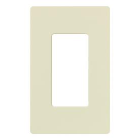 Lutron 1-Gang Almond Decorator Rocker Plastic Wall Plate