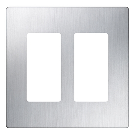 Lutron Claro 2-Gang Stainless Steel Double Decorator Wall Plate