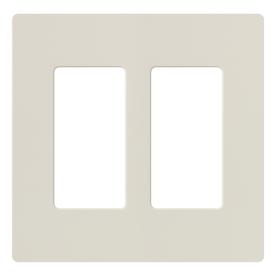 Lutron Claro 2-Gang Light Almond Double Decorator Wall Plate