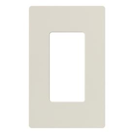 Lutron 1-Gang Light Almond Decorator Rocker Plastic Wall Plate