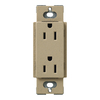 Lutron 15-Amp Claro Mocha Stone Decorator Single Electrical Outlet