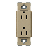 Lutron 20-Amp Claro Mocha Stone Decorator Single Electrical Outlet