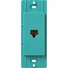 Lutron Claro Satin Color 1-Gang Turquoise Phone Plastic Wall Plate