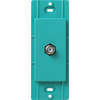Lutron Claro Satin Color 1-Gang Turquoise Coaxial Plastic Wall Plate