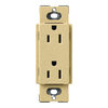 Lutron Claro 15-Amp 120/125-Volt Goldstone Indoor Decorator Wall Outlet