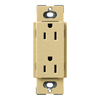 Lutron 20-Amp Claro Goldstone Decorator Single Electrical Outlet