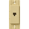 Lutron Claro Satin Color 1-Gang Goldstone Phone Plastic Wall Plate