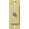 Lutron Claro Satin Color 1-Gang Goldstone Coaxial Plastic Wall Plate