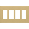 Lutron Claro 4-Gang Goldstone Quad Decorator Wall Plate