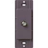 Lutron Claro Satin Color 1-Gang Plum Coaxial Plastic Wall Plate