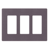Lutron Claro 3-Gang Plum Triple Decorator Wall Plate