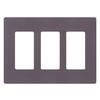 Lutron Claro 3-Gang Plum Triple Decorator Wall Plate