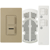 Lutron Maestro IR Mocha Stone Combination Dimmer and Fan Control