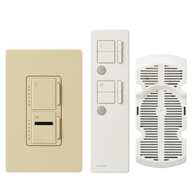 Lutron Maestro IR 1-Amp 300-Watt Ivory 3-Way Digital Combination Ceiling Fan and Light Control with Remote