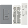 Lutron Maestro IR 3-Way Gray Combination Dimmer and Fan Control