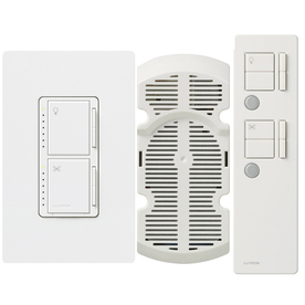Lutron Maestro IR 2.5-Amp 300-Watt Snow 3-Way Digital Combination Ceiling Fan and Light Control with Remote