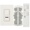 Lutron Maestro IR 3-Way Biscuit Combination Dimmer and Fan Control