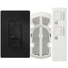 Lutron Maestro IR 3-Way Midnight Combination Dimmer and Fan Control