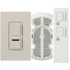 Lutron Maestro IR 3-Way Limestone Combination Dimmer and Fan Control