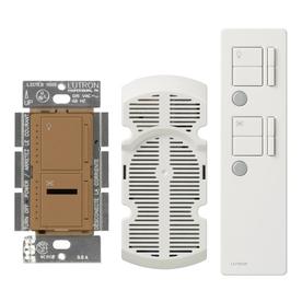Lutron Maestro IR 2.5-Amp 300-Watt Terracotta 3-Way Digital Combination Ceiling Fan and Light Control with Remote