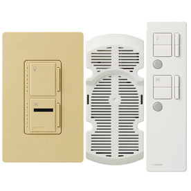 Lutron Maestro IR 2.5-Amp 300-Watt Goldstone 3-Way Digital Combination Ceiling Fan and Light Control with Remote